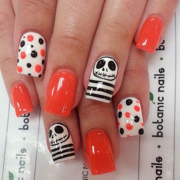 Jack Skellington Halloween Nails Pictures, Photos, and ...