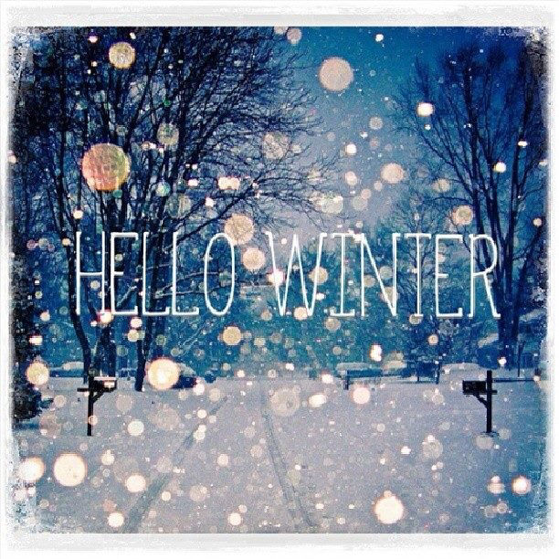 Hello Winter Quote With Snow