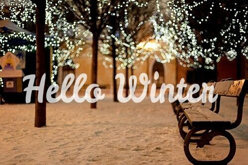Hello Winter With Snow And Lights Pictures Photos And