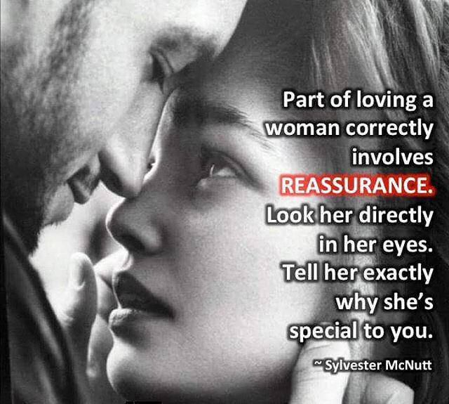 Part Of Loving A Woman Involves Reassuring Her Pictures ...
