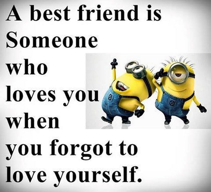 Superb Best Friend Minion Quote