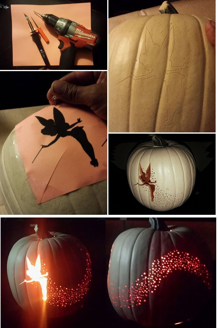 diy tinkerbell pumpkin pictures photos and images for