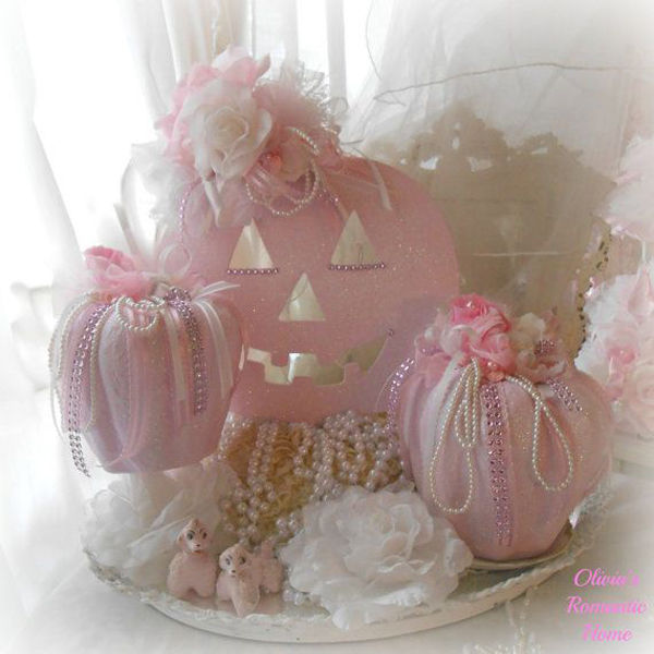 Shabby Chic Halloween Centerpiece Pictures, Photos, And