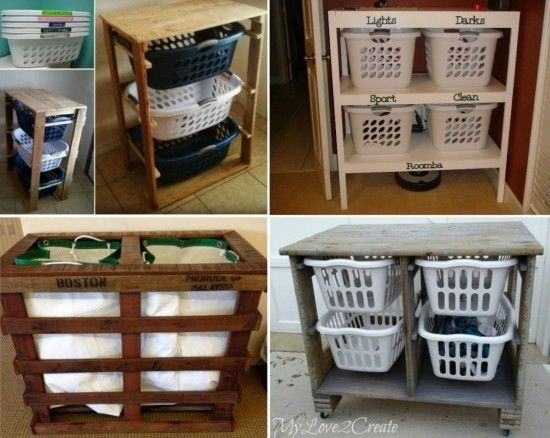 Pallet Laundry Basket
