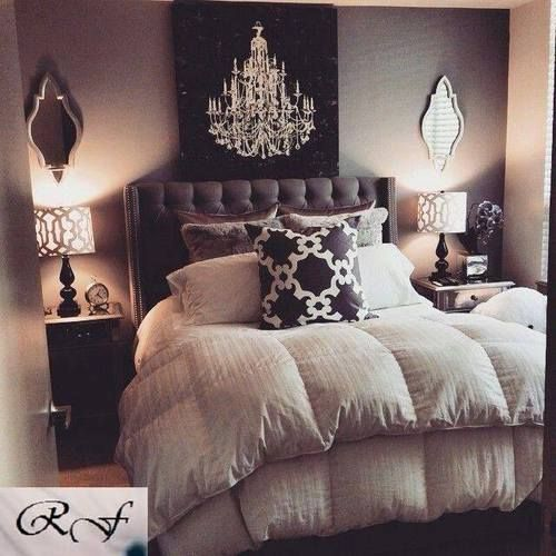 Simplistic Grey Master Bedroom: Chandelier Bedroom Pictures, Photos, And Images For
