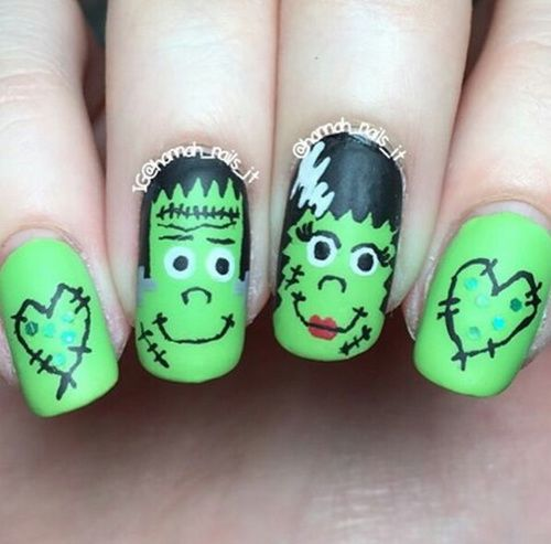 Frankenstein Nails Pictures Photos And Images For Facebook Tumblr