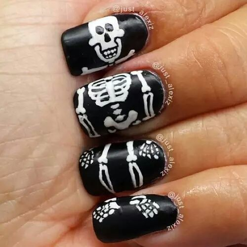 Skeleton nail art pictures photos and images for facebook skeleton nail art prinsesfo Images