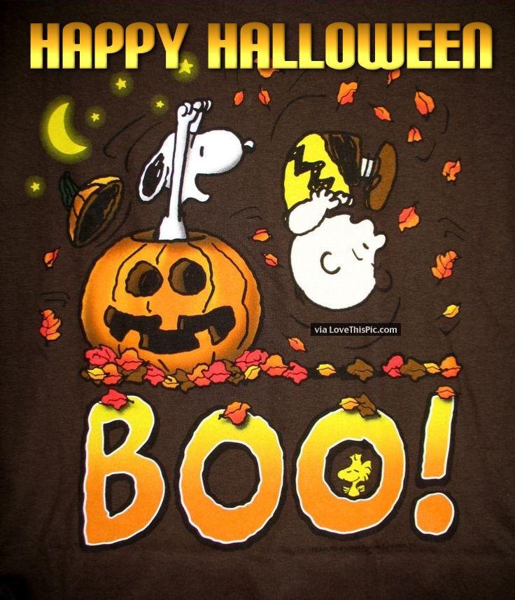 Snoopy Happy Halloween Quote