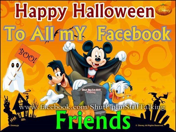 Disney happy halloween to all my facebook friends pictures - Disney halloween images ...