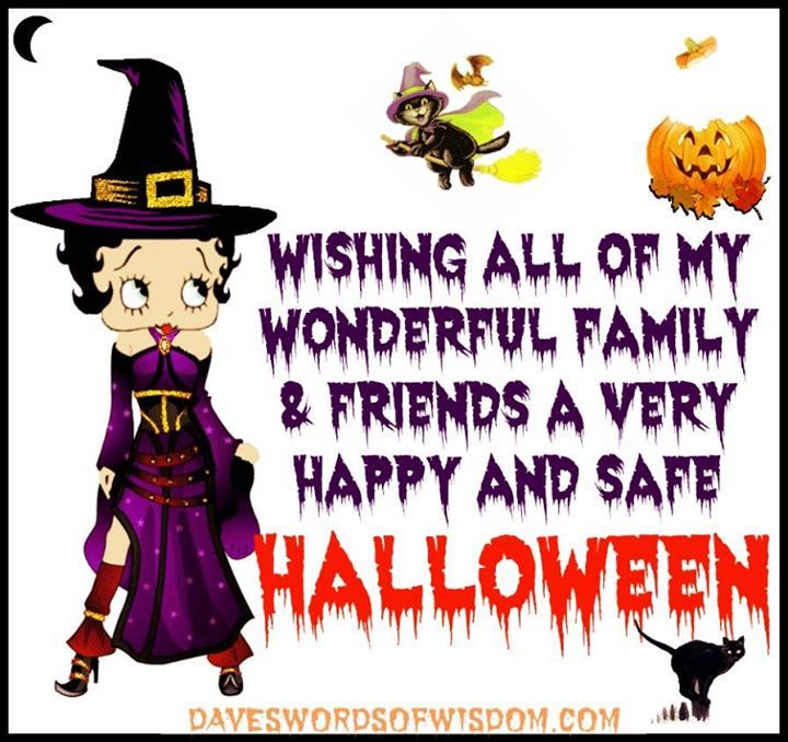 50 Best Happy Halloween Quotes Wishes Greetings And Sayings With Pictures: Wishing All My Family And Friends A Happy Safe Halloween