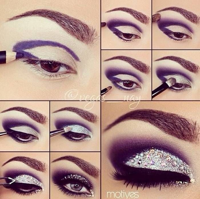 Purple Sparkle Eye Makeup Pictures Photos And Images For Facebook