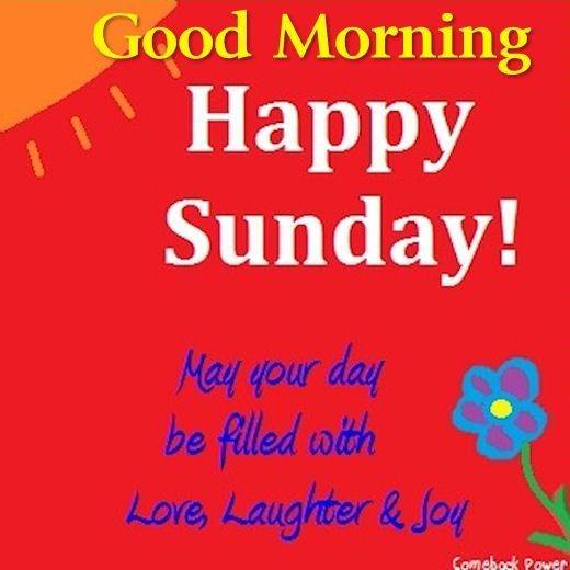 Good Morning Sunday Love Pics : Good morning happy sunday may your day be filed with love
