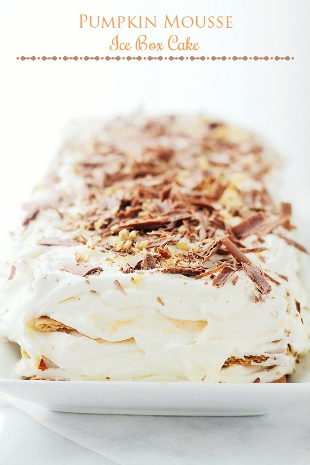 Pumpkin Mousse Ice Box Cake Pictures, Photos, and Images for Facebook ...