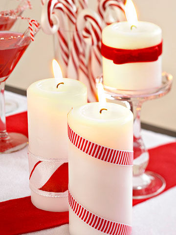 Candy cane candles pictures photos and images for for Candy cane holder candle centerpiece