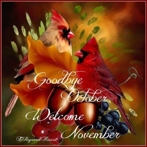 Image result for goodbye october hello november