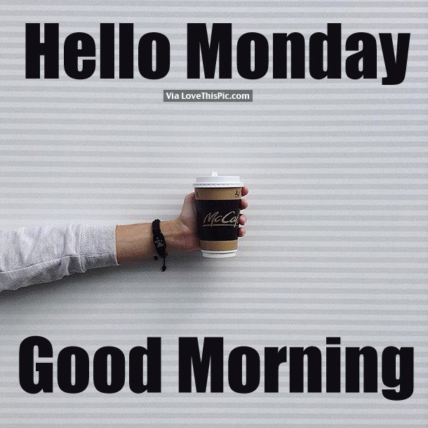 Hi Good Morning Quotes: Hello Monday, Good Morning Pictures, Photos, And Images