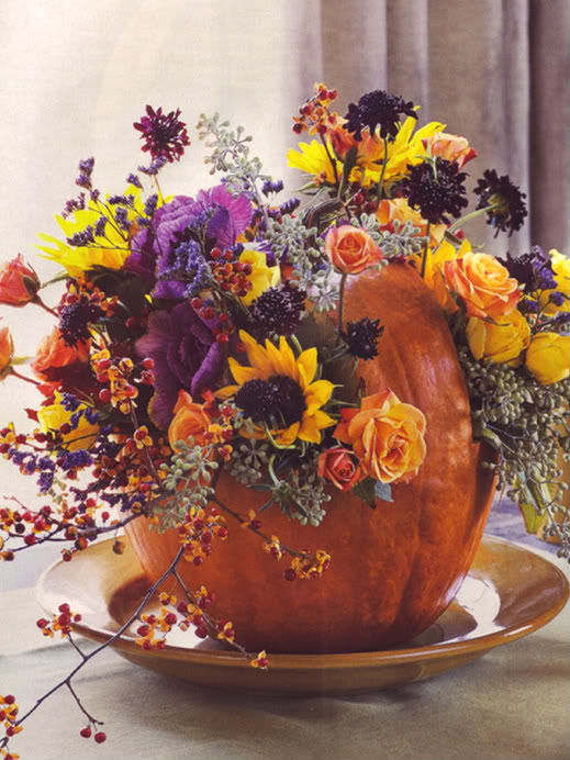 Beautiful Floral Pumpkin Centerpiece Pictures Photos And