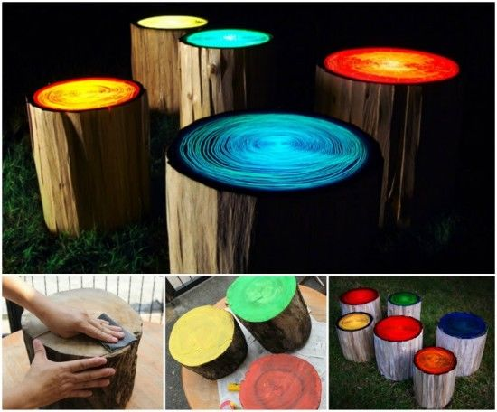 Glowing Tree Stump Stool Pictures Photos And Images For