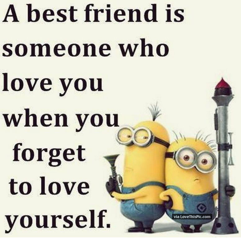 Funny I Love You Quotes For Best Friends : Best Friend Minion Love Quote Pictures, Photos, and Images for ...