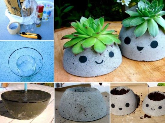 Cute Concrete Planters Pictures Photos And Images For
