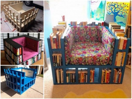 DIY Bookshelf Chair Tutorial Pictures Photos And Images For
