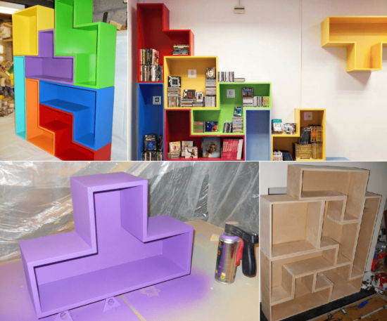 DIY Tetris Shelves Pictures Photos and Images for Facebook