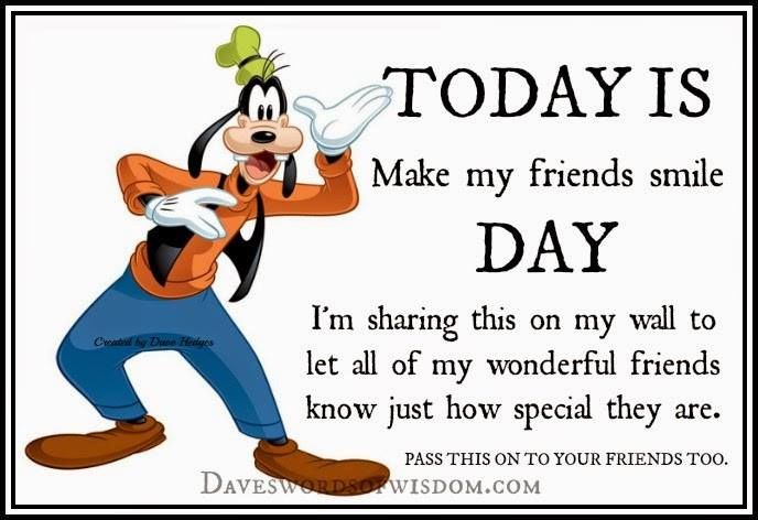 Today Is Make My Friends Smile Day Pictures, Photos, and Images