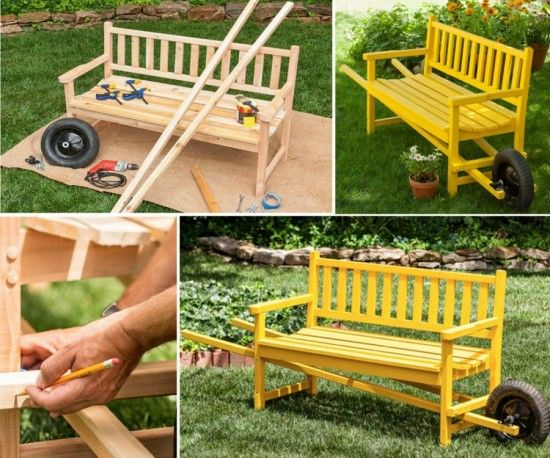 Diy Wheelbarrow Bench Pictures Photos And Images For