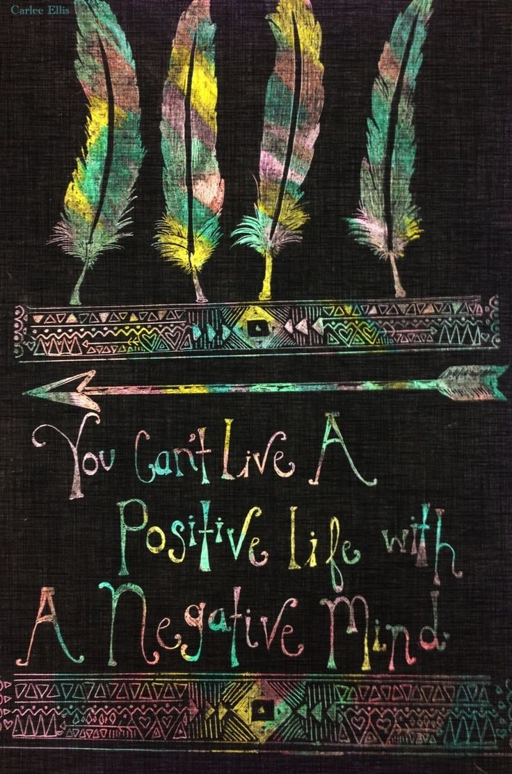 You Canu0027t Live A Positive Life With A Negative Mind.