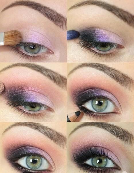 Purple Eye Makeup Tutorial for Blue Eyes