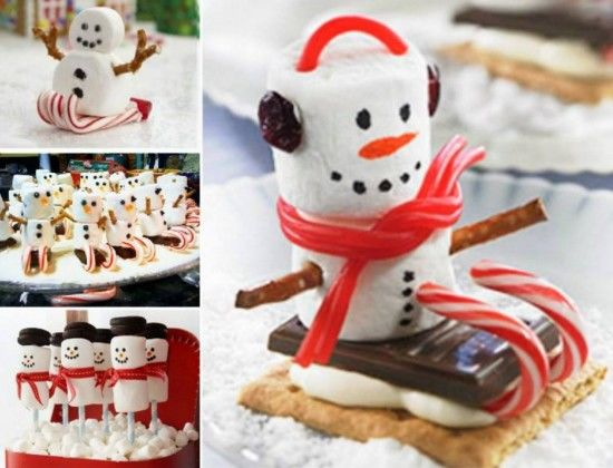 Diy Marshmallow Snowman Candy Cane Sleds Pictures Photos