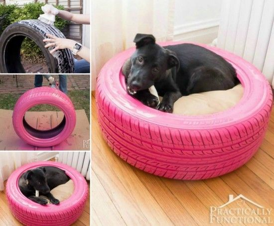 Tyre Dog Bed