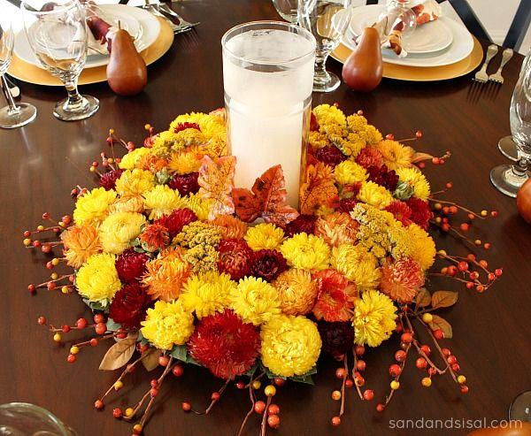 Gorgeous floral thanksgiving centerpiece pictures photos