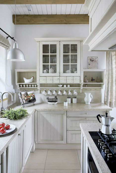 All white country kitchen pictures photos and images for for Small country kitchen ideas