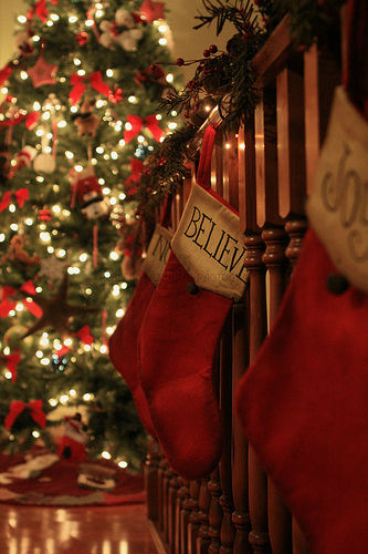Believe Christmas Stair Stocking Pictures Photos And