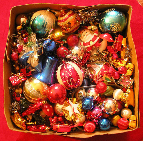 Box Of Assorted Christmas Decorations Pictures, Photos, and Images ...