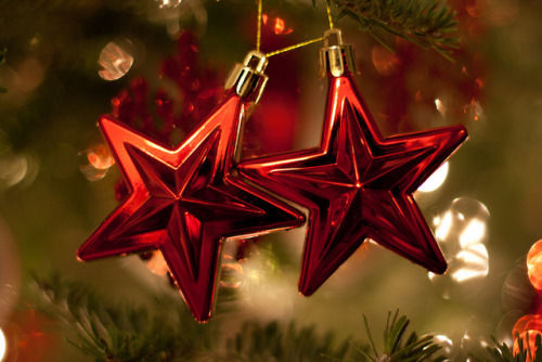 Red Star Ornament Decorations