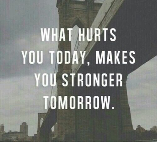 What Hurts You Today, Makes You Stronger Tomorrow Pictures