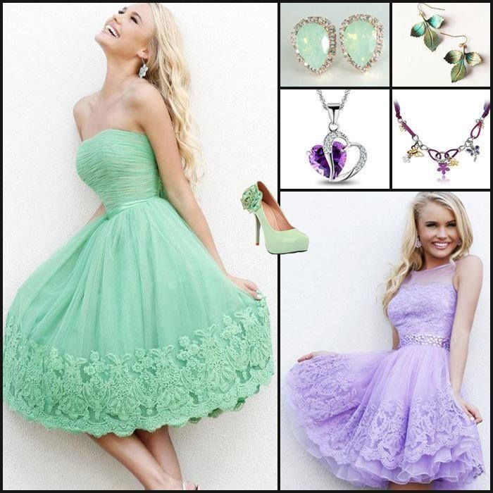 Party Dresses & Accessories In Mint Green & Lavender Pictures ...