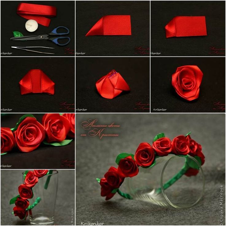Diy Rose Ribbon Headband Pictures Photos And Images For