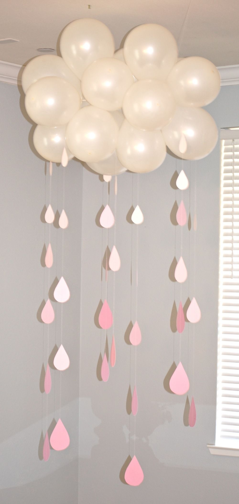 Cloud and raindrop baby shower decoration pictures photos for Baby shower decoration pics