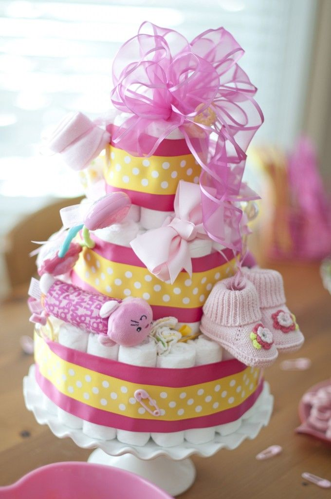 Baby Shower Yellow And Pink ~ Yellow and pink baby girl shower pictures photos