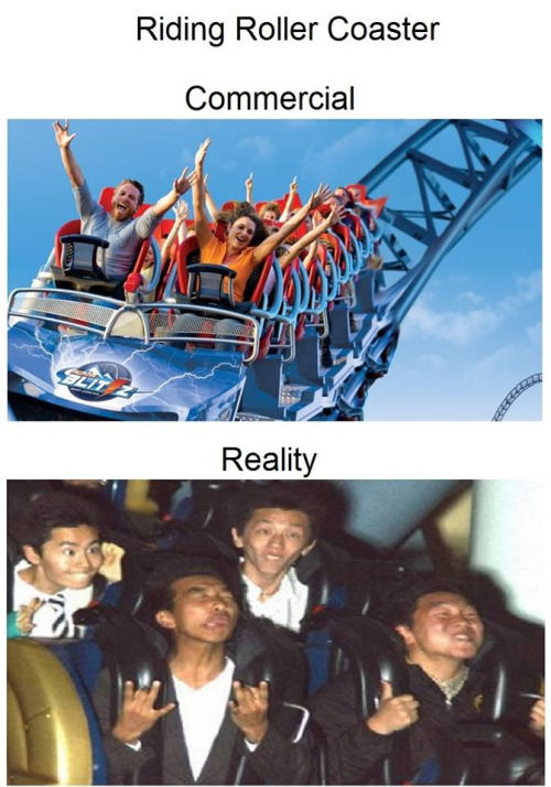Roller Coaster: Commercial Vs Reality Pictures, Photos