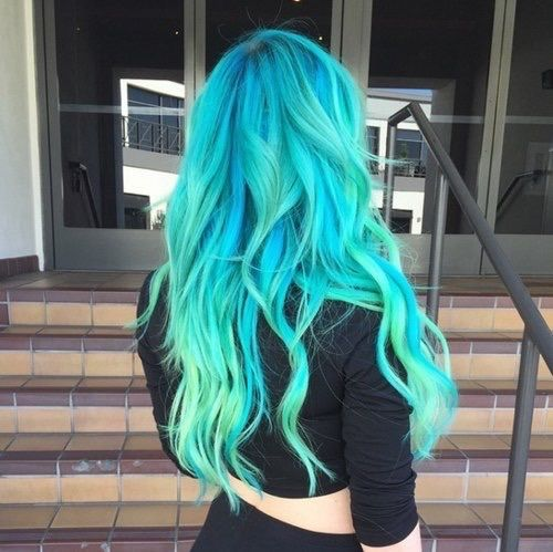 neon hair styles neon blue teal hair pictures photos and images for 7421