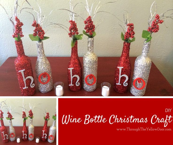 wine bottle christmas craft - Pinterest Christmas Crafts