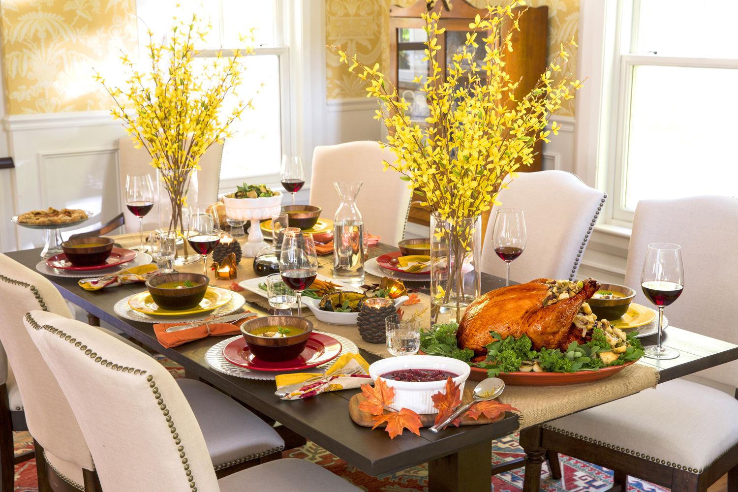 Elegant thanksgiving table pictures photos and images for Fancy dinner table