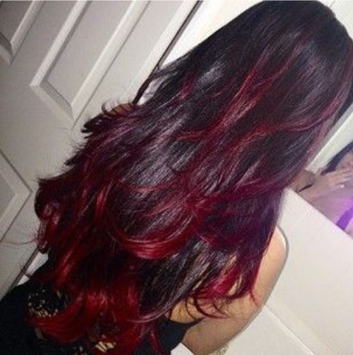 Dark Hair With Red Highlights Pictures Photos And Images