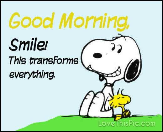 Snoopy Good Morning Smile Pictures Photos And Images For