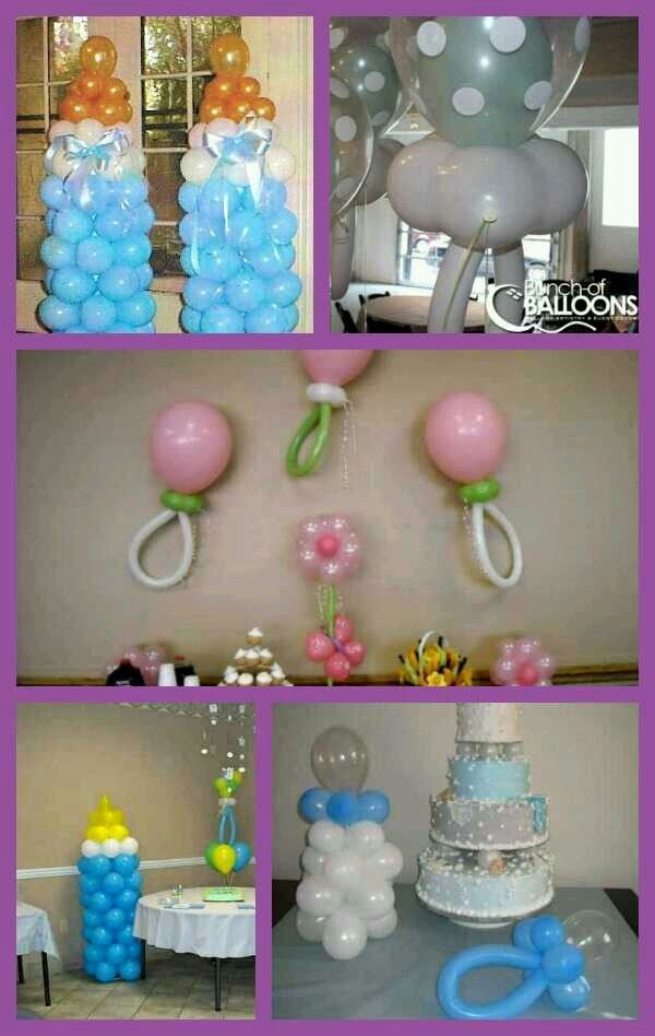 Baby shower balloon decorations pictures photos and for Baby shower decoration ideas with balloons