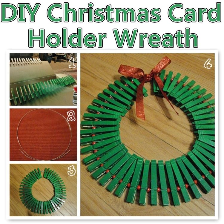 DIY Christmas Card Holder Wreath Pictures, Photos, and Images for ...